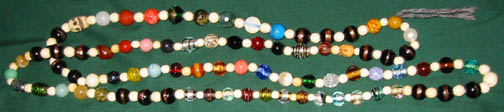 'Godhi' style Northern Tradition prayer beads, Large glass/stone.